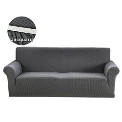 1 Piece Loveseat Covers Spandex Polyester Slipcover Jacquard Stretch Slip Resistant Solid Print  ...