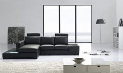 Limari Home LIM-13056 Tanky Sectional Sofa, Black