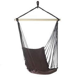 Hanging Chair, Portable Hammock Chair Rope Outdoor Cotton Padded Swing Chair
