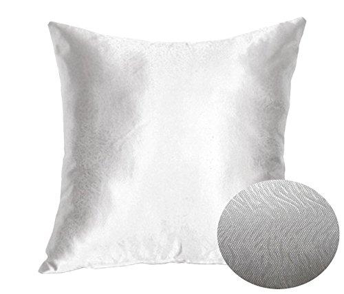 Silver Steel Grey 18 Quot X 18 Quot Decorative Textured Satin