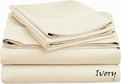 Luxurious Finish Comfortable Sleeper Sofa Bed Sheet Set, Pure Egyptian Cotton – Solid Ivor ...