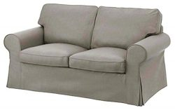 The Ektorp Two Seater Sofa Bed Cover (Durable Heavy Cotton) Replacement IS Custom Made For Ikea  ...