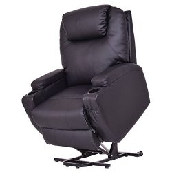 Giantex Lift Chair Electric Power Recliner w/Remote and Cup Holder Living Room Furniture (Black)