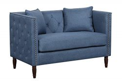 Container Furniture Direct S5281-L Ivy Loveseat, Ocean Blue