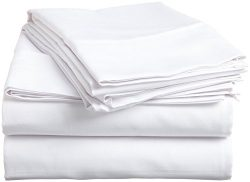 Egyptian Cotton Full Sleeper Sofa Bed Sheet Set 400 Thread Count 54″x72″x6″ Wh ...