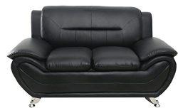 Container Furniture Direct S5395-L Michael Loveseat, Black