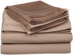 Egyptian Cotton Queen Sleeper Sofa Bed Sheet Set 400 Thread Count 62″x74″x6″ T ...