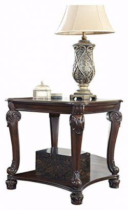 Ashley Furniture Signature Design – Norcastle End Table – Ornate Style – Squar ...