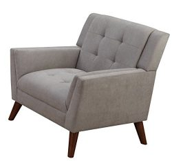 Furniture World Mid Century Armchair, Gray