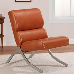 Contemporary/Modern Unique Faux,Bonded Leather Foam Chair (Rust)