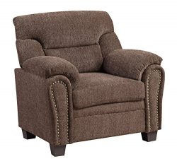 Furniture World Jefferson Armchair, Chocolate Chenille Fabric