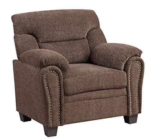 Chenille Armchair: Furniture World Jefferson Armchair, Chocolate Chenille