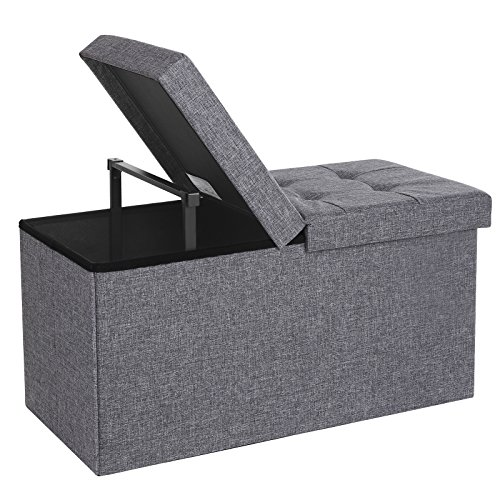 Songmics 30 Quot L Fabric Storage Ottoman Bench With Lift Top