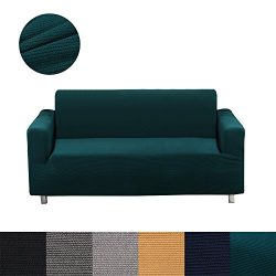 Homaxy Stretch Sofa Slipcovers, Soft Furniture Protector, Polyester Spandex Jacquard Fabric Stri ...
