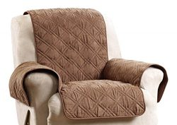 Sure Fit SF45037 Deluxe Non Skid Waterproof Pet Recliner Furniture Cover – Brown