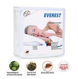 Everest Polyzip Mattress Encasement 100% Bed Bug Proof, Dustmite Proof, Machine Washable, Non-Wa ...