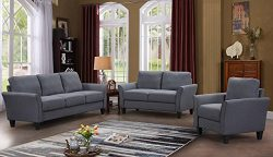 Harper&Bright Designs Sectional Sofa Set Living Room Furniture Living Room Sofa 3-Seat Sofa  ...