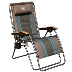 Timber Ridge Zero Gravity Patio Lounge Chair Oversize XL Padded Adjustable Recliner with Headres ...