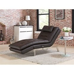 Lifestyle Solutions Relax-A-Lounger Titan Convertible Chaise in Brown