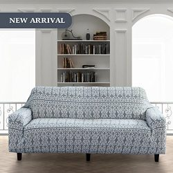 Lamberia Spandex Fabric Stretch Sofa Slipcover Couch Covers For 2 Cushion Loveseat With One Pill ...