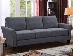Harper&Bright Designs Sectional Sofa Set 3-Seat Sofa and Loveseat Chair with Single Chair Gr ...