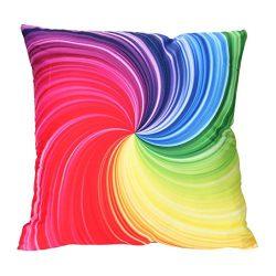 Leyorie Multicolor 3D Print Pillow Cases Polyester Sofa Car Cushion Cover Home Decor (E)