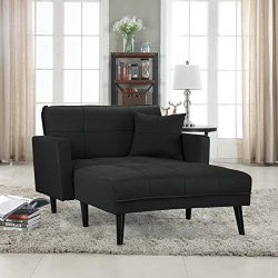 Divano Roma Furniture Modern Linen Fabric Recliner Futon Chaise Lounge – Futon Sleeper Sin ...