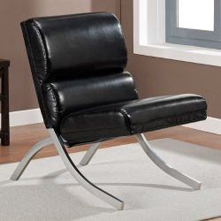 Contemporary/Modern Unique Faux,Bonded Leather Foam Chair (Black)