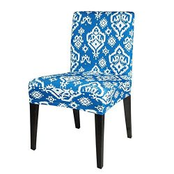 Chair Cover Spandex Stretch Removable Dining Room Wedding Banquet Slipcovers Geometric Flower Pa ...