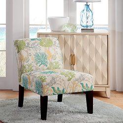 Carver 1006-01-F12 Evington Under the Sea Slipper Chair, One Size, Multicolor