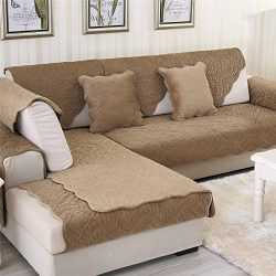 OstepDecor Soft Petris Quilted Sectional Armrest & Backrest Covers for Sofa, Loveseat | Coff ...