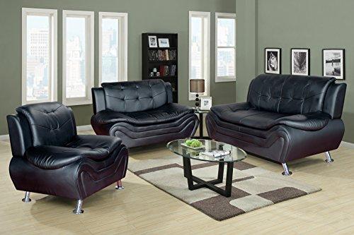 Beverly Fine Furniture F4502 3pc 3 Piece Aldo Modern Sofa