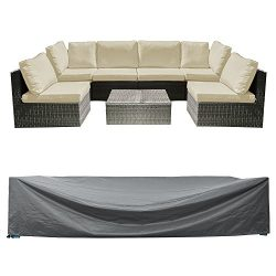Patio Sectional Sofa Set Cover Outdoor Furniture Covers Waterproof Outdoor Table and Chair Cover ...