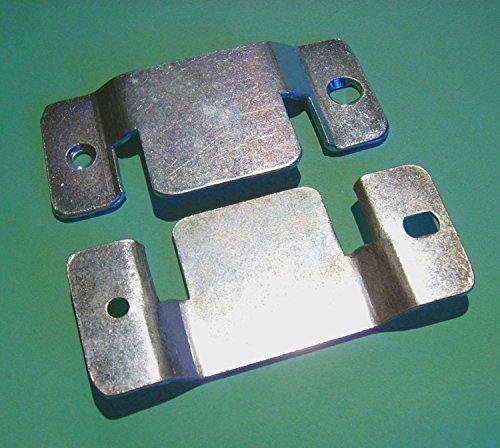 2 pair PLATED METAL INTERLOCKING/Connector/Joiner/CLIPS Sofa/Divan/Bed/Corner/Sectional. (2 pair ...