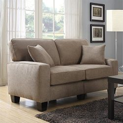 Serta RTA Palisades Collection 61″ Loveseat in Fawn Tan
