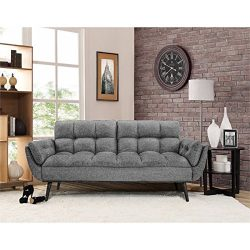 Westport Home Cdc-2PC-DG-Set Carly Convertible Sofa