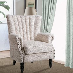 Harper Bright Designs Upholstered Accent Chair Stylish Club Chair Living Room Chair Armchair wit ...