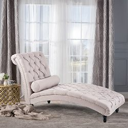 Harper&Bright Design Chaise Lounge Home Office Leisure Chair Couch Sofa Chair Button Tufted  ...