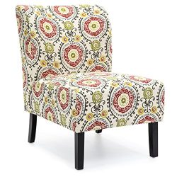 Best Choice Products Modern Contemporary Upholstered Armless Accent Chair (Multicolor)