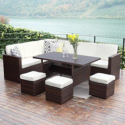 Wisteria Lane Patio Sectional Furniture Set 10 Pcs Outdoor
