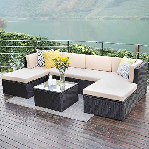 Wisteria Lane Outdoor Patio Furniture Sets 7 Pcs Wicker