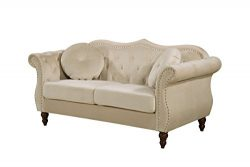 Container Furniture Direct S5368-L Anna1 Loveseat, Ivory