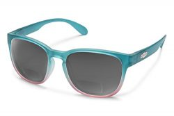 Suncloud Loveseat Polarized Bi-Focal Reading Sunglasses in Aqua Pink Fade/ Grey Lens +2.50