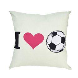 Pillow Cases,2018 World Cup Football Soccer Print Pillowcases Sofa Car Cushion Cover Home Decor (C2)