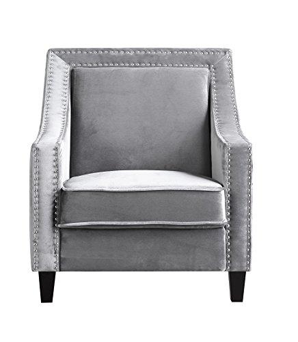 Iconic Home Camren Accent Club Chair Velvet Upholstered