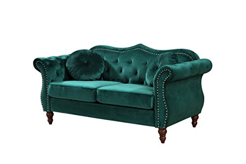 Container Furniture Direct S5367 L Anna1 Loveseat Green Gvdesigns Gvdesigns