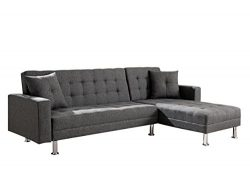 Milton Greens Stars 8036-Gray Sectional Sofa, Gray