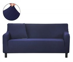 ColorBird Spandex Fabric Sofa Slipcovers Solid Color Jacquard Removable Stretch Elastic Couch Pr ...
