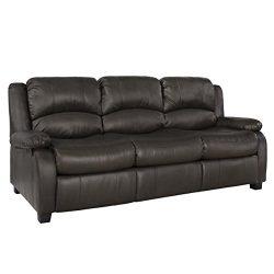 RecPro Charles 80″ RV Sleeper Sofa w/Hide A Bed | RV Furniture | RV Sofa (Chestnut)