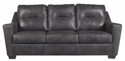 Ashley Furniture Signature Design – Kensbridge Contemporary Leather Sofa Sleeper – Q ...